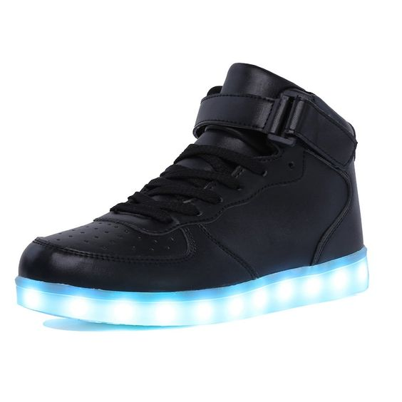 CIOR High Top Led Light Up Shoes 11 Colors Flashing Rechargeable Sneakers Ankel Boots for Mens Womens Girls Boys