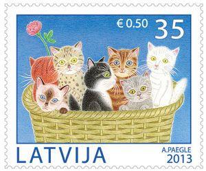 ♥ ◙ Latvia, Postage Stamp. ◙:
