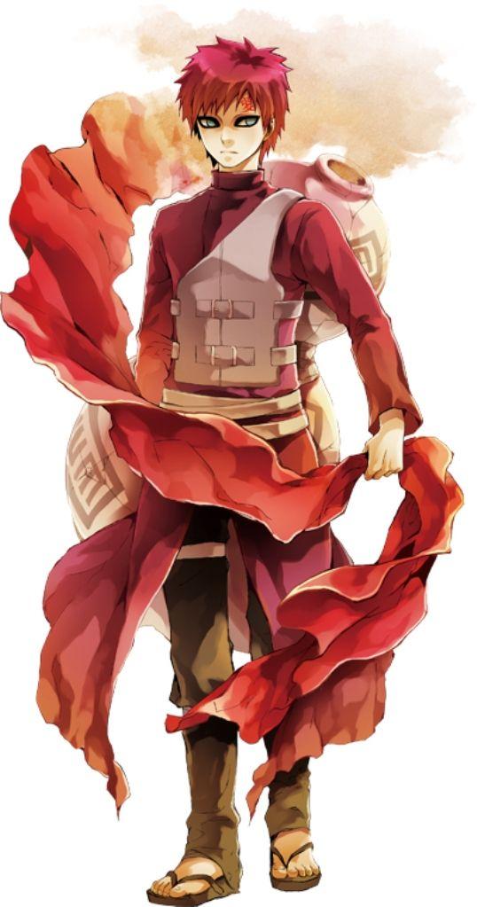 赤い布を握る我愛羅