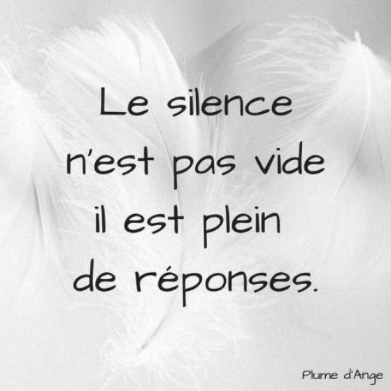 Le Silence N Est Pa Vide Il Plein De Reponse Citation Citationdujour Proverbe Quote Frenchquote Pensee French Peace Quotes Dissertation Sur