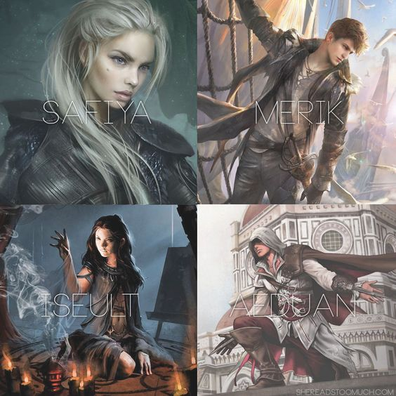 Truthwitch Characters (Safiya, Merik, Iseult, Aeduan) #fantasy #characters