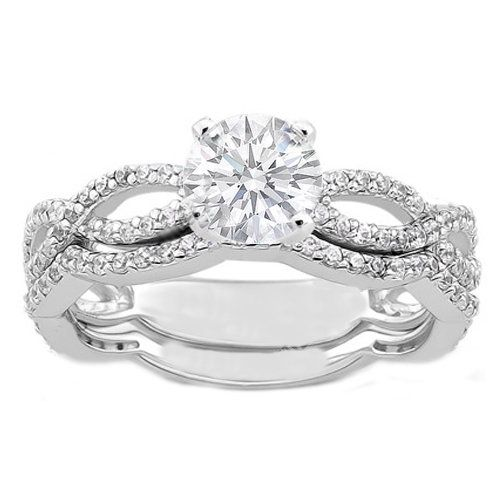 Vintage Style Round 0.60 carat diamond infinity swirl engagement ring $1490.00