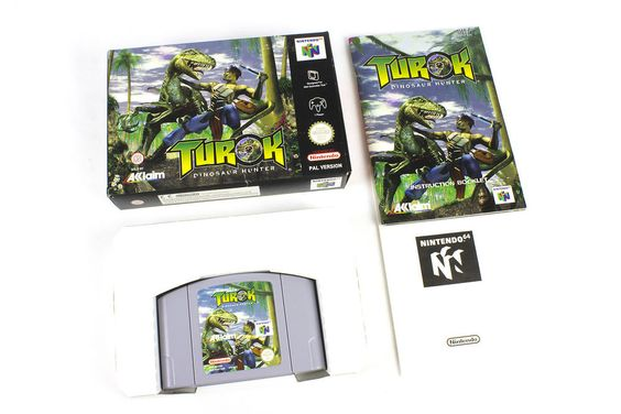 Turok Dinosaur Hunter for Nintendo 64,  N64,  PAL, 1997, Boxed, Shooter, Action