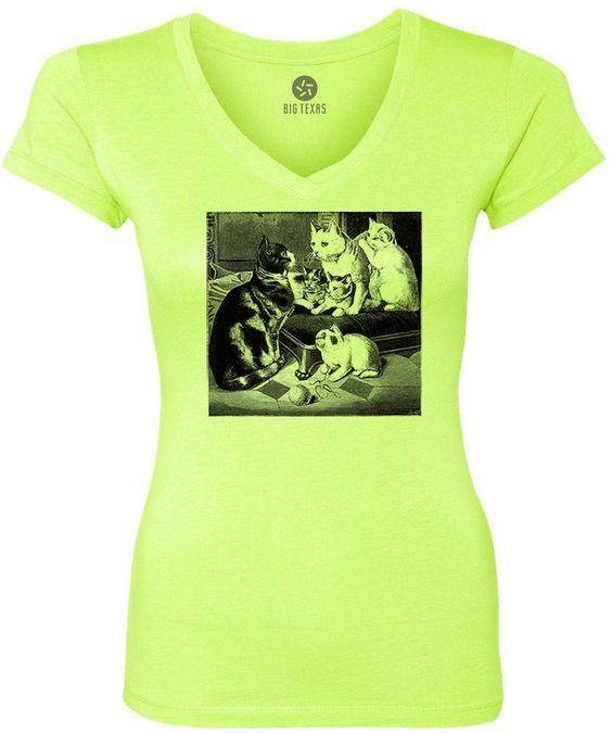 Family of Cats (Black) Women's Short-Sleeve V-Neck T-Shirt