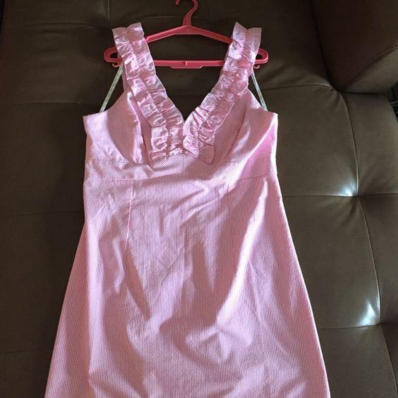 Pink seersucker Lilly Pulitzer dress NWT Great summer dress! Lilly Pulitzer Dresses