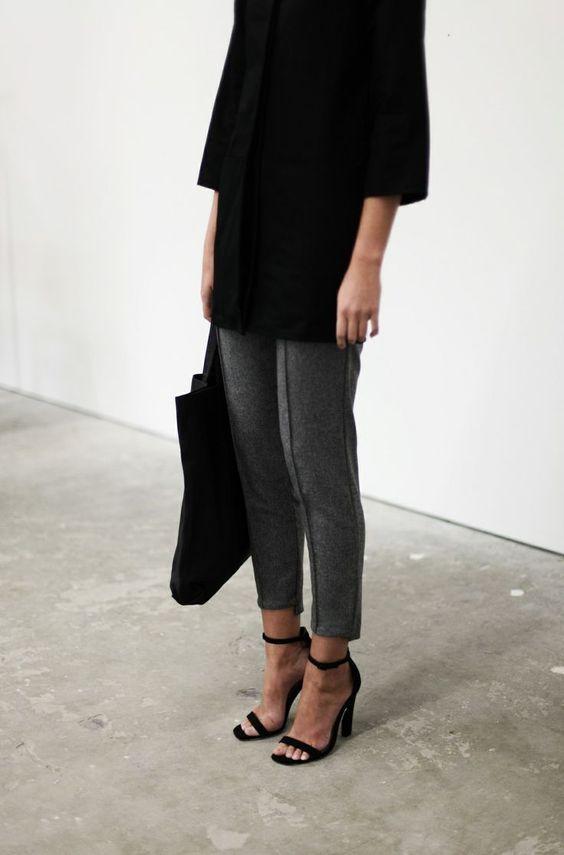 Black, grey, minimalism: