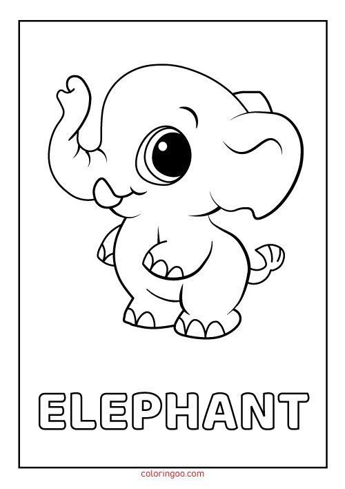 Elephant Coloring Pages For Kids Elephant Printable Coloring Pages For Kids In 2020 Elephant Coloring Page Animal Coloring Pages Cute Coloring Pages