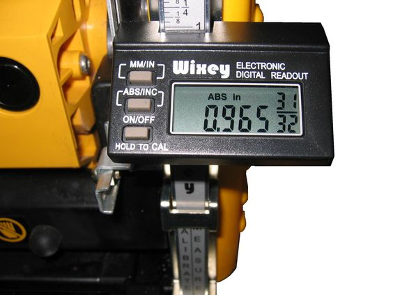 Wixey WR510 Digital Planer Readout with Fractions. Fits most portable planers. Easy to install, calibrate, and use. Displays Inches with fractions or millimeters. Large easy to read display angled for easy viewing.