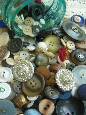 Antique buttons are fun! What were they once attached toooo??? hmmm