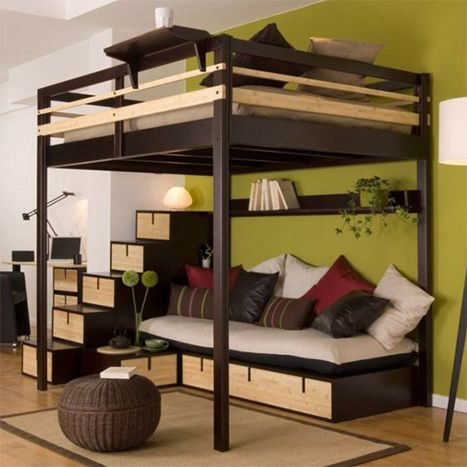 hochbett f r erwachsene 140x200 f r 2 personen ein. Black Bedroom Furniture Sets. Home Design Ideas
