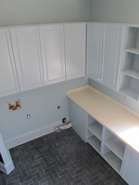 Herringbone mud and laundry room floors on pinterest for Floor 4 do not remove