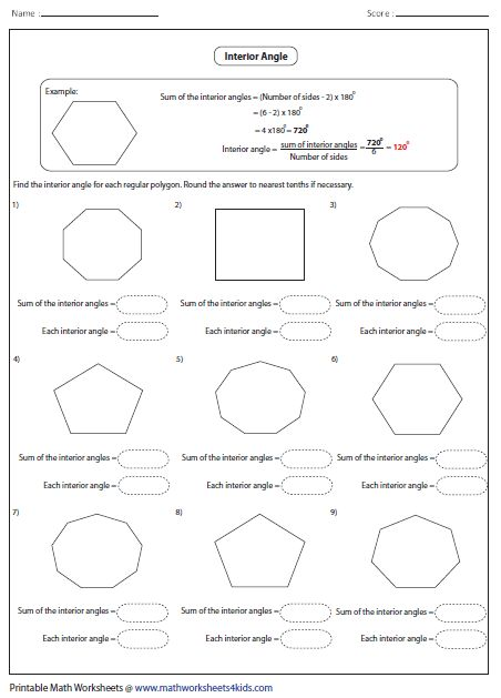 Mathworksheets4kids Angles In Transversal Answer Key Interior Angles Find The Value Of X