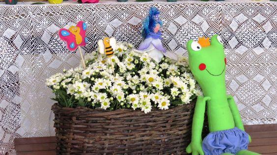 Festa Jardim encantado. Sapo. Dona Maricota Festas Criativas e Sustentáveis