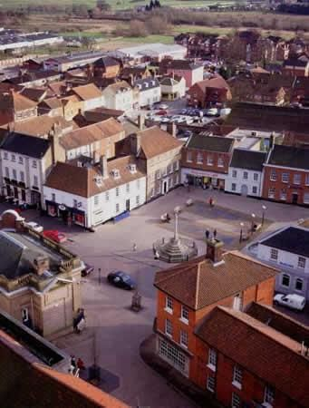 Fakenham town centre. Photo by North Norfolk District Council