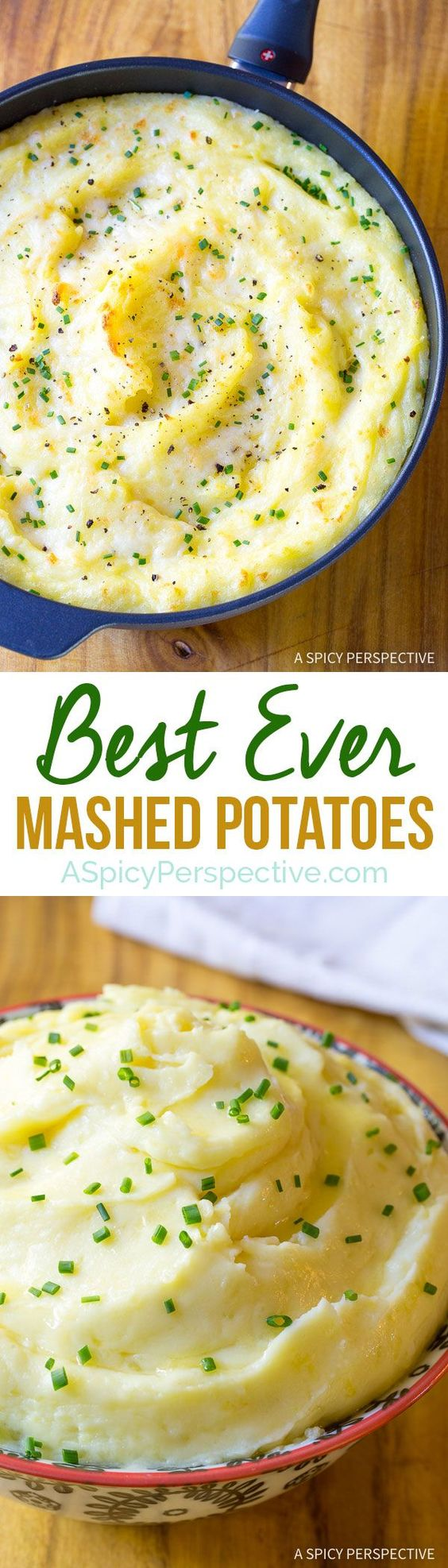 Our Very Best Mashed Potatoes Recipe on ASpicyPerspective.com