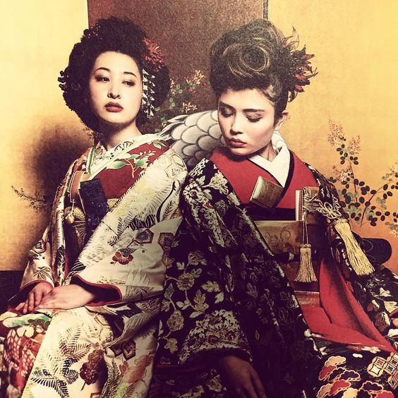 #japan #beauty #hair #styling #kimono #enishi
