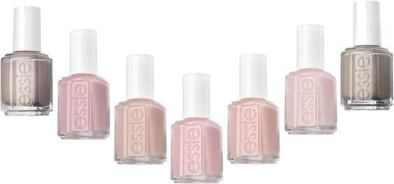Essie Favorite Colors:  topless barefoot, mademoiselle, ballet slippers, adore-a-ball, fiji, east hampton cottage, sand tropez