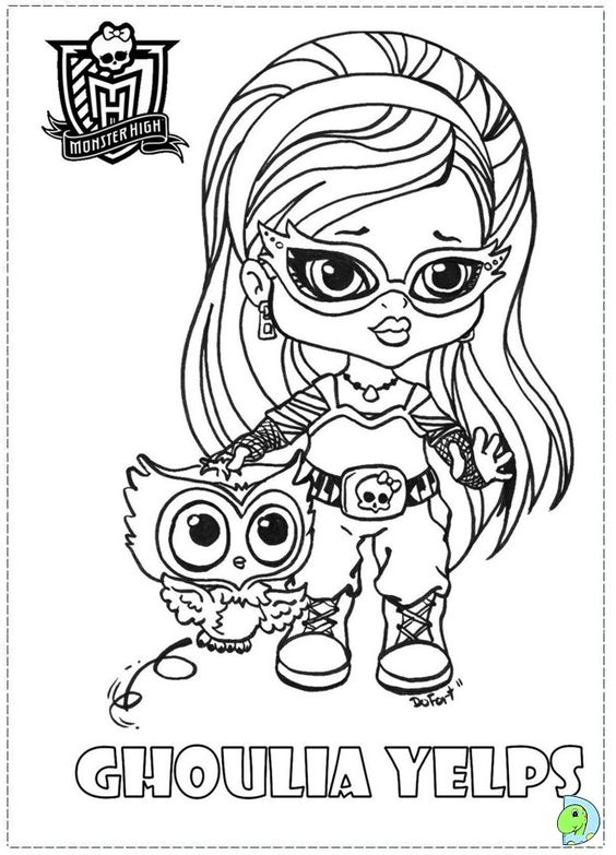 Monster High Coloring Pages To Print