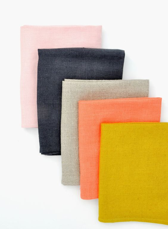 Color palette, cool Spring colours, fabric, navy coral mustard, design