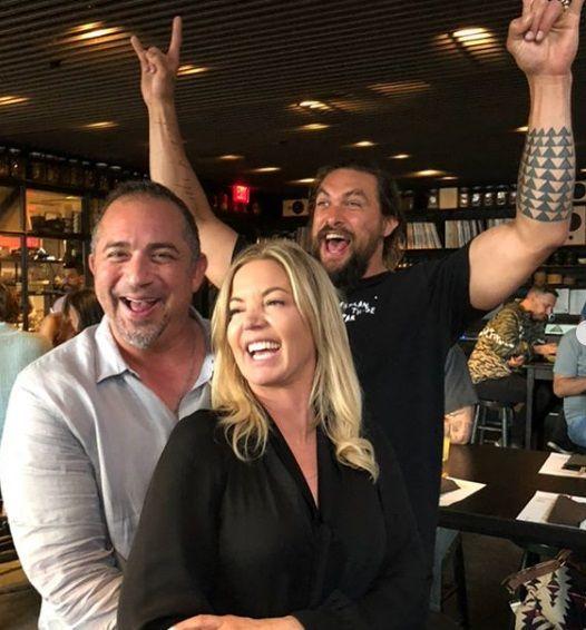 Jason Momoa With Jeanie Buss And Michael Acierno Jason Momoa