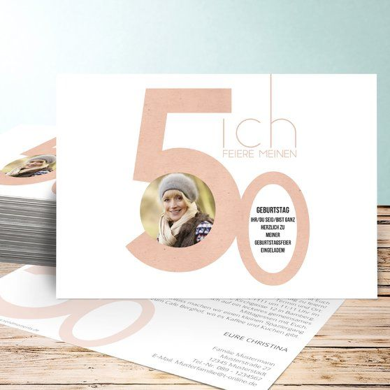 einladungskarten 50. geburtstag - selbst gestalten | job, Einladungsentwurf