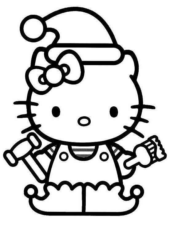 9 Unique De Lutin De Noel Coloriage Photos Kitty Coloring Hello Kitty Coloring Birthday Coloring Pages
