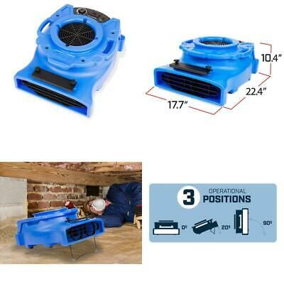 1 4 Hp Low Profile Blue Air Mover Blower Fan For Water Damage Restoration Carpet Ebay Damage Restoration Blower Fans Blue Air