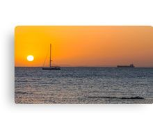 Sunset Over Port Phillip Bay Canvas Print