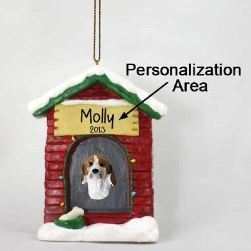 American Foxhound Dog House Xmas Ornament