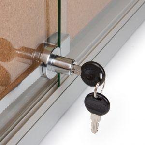 lock for sliding glass cabinet doors