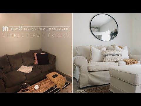 Diy Small Living Room Makeover Youtube Living Room Makeover Sofas For Small Spaces Budget Friendly Living Room