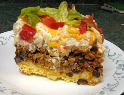 Taco corn bread casserole--ground turkey recipe that makes extra for other meals