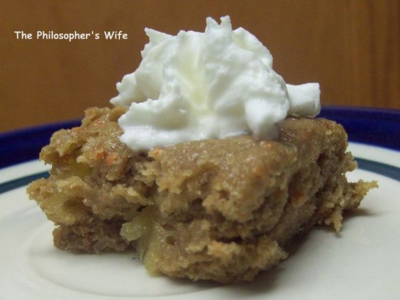 The Philosopher's Wife: Super Easy and Delicious Two Ingredient Cake - Apple Carrot Cake
