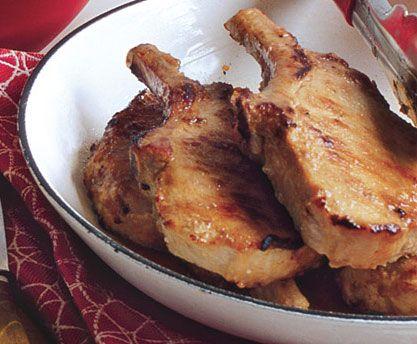 garlic miso pork chops