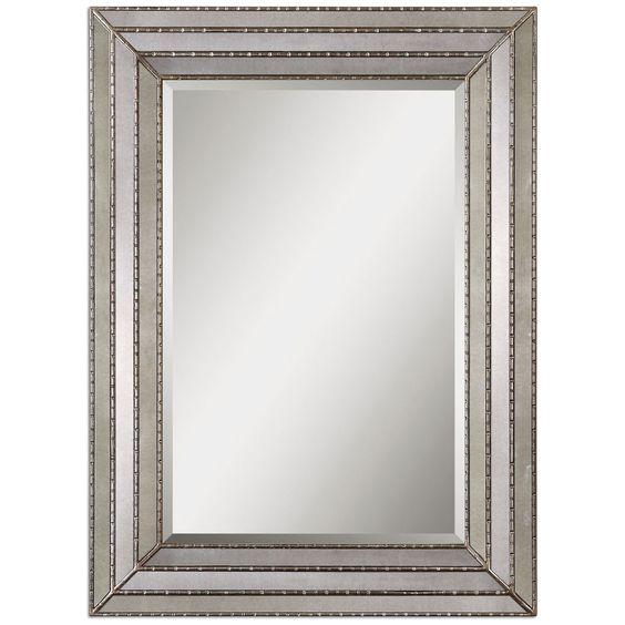 Uttermost Seymour Antique Silver Mirror 14465