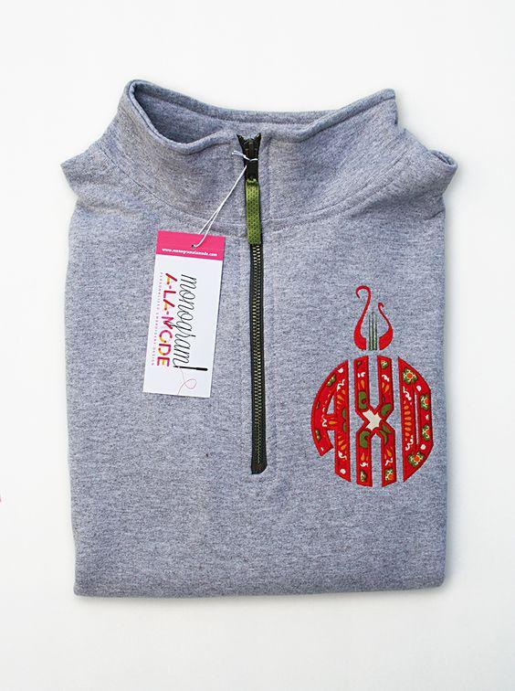 Alpha Chi Omega 1/4 Zip Sorority Circle Monogram Sweatshirt