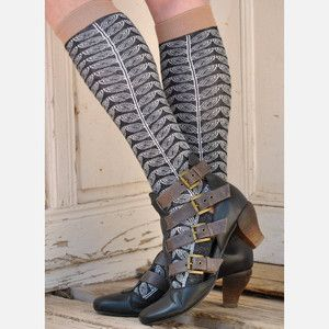 April Knee High Black now featured on Fab.