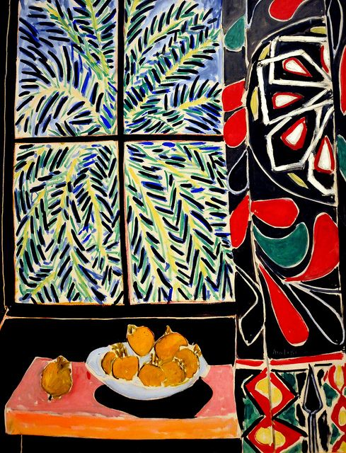 Henri Matisse - Interior with Egyptian Curtain, 1948 - at Philips Collection Art Gallery Washington DC by mbell1975, via Flickr: