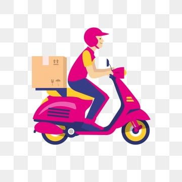 Delivery Clipart Send Delivery Motorcycle Courier Red Red Vector Motorcycle Vector Free Shipping Delivery Boy Food Delivery In 2021 Motorcycle Club Design Moto Logo