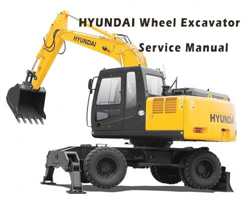 Hyundai R200w 7a Wheel Excavator Service Repair Manual Service Manuals Club In 2020 Repair Manuals Hydraulic Systems Repair