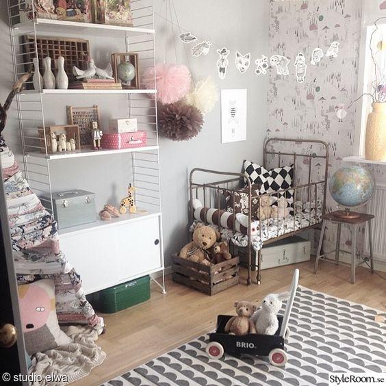 Barnrum barnrum diy : stringhylla,fermliving,vintage,diy,gör det själv,pyssel,förvaring ...