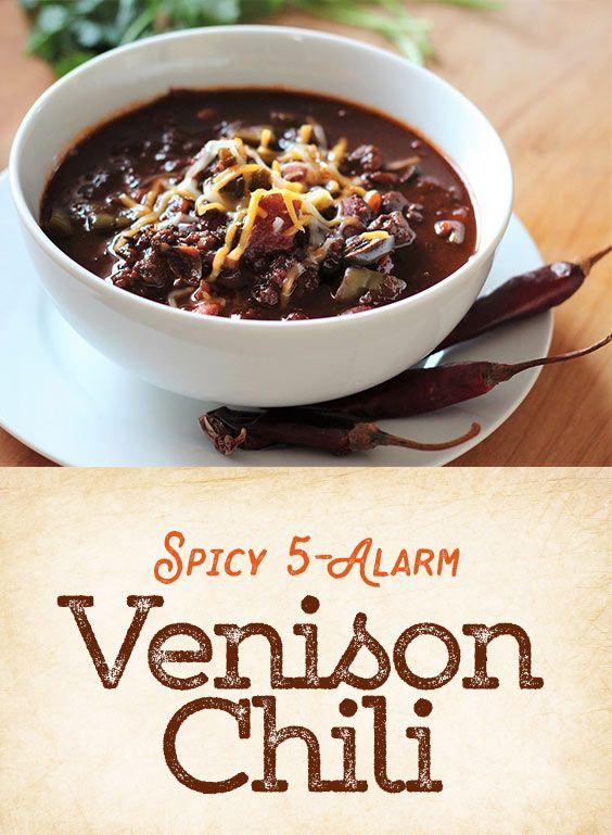 Spicy 5 Alarm Venison Chili Recipe Recipes Venison Chili Venison Chili Recipe