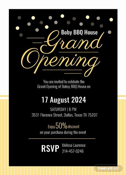 Grand Opening Invitation Template Inspirational Grand Opening Invitation Card Template Download 344 Grand Opening Invitations Grand Opening Invitation Template