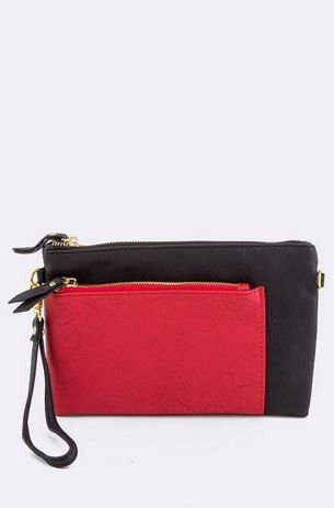 Black and Red Pocket Clutch