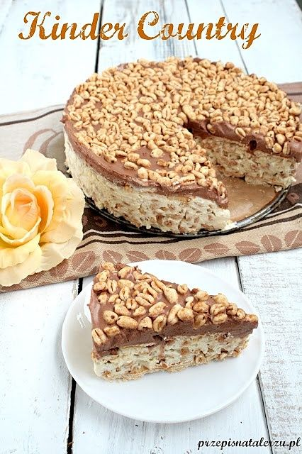 Ciasto Kinder Country ciasta Pinterest Kuchen and Country