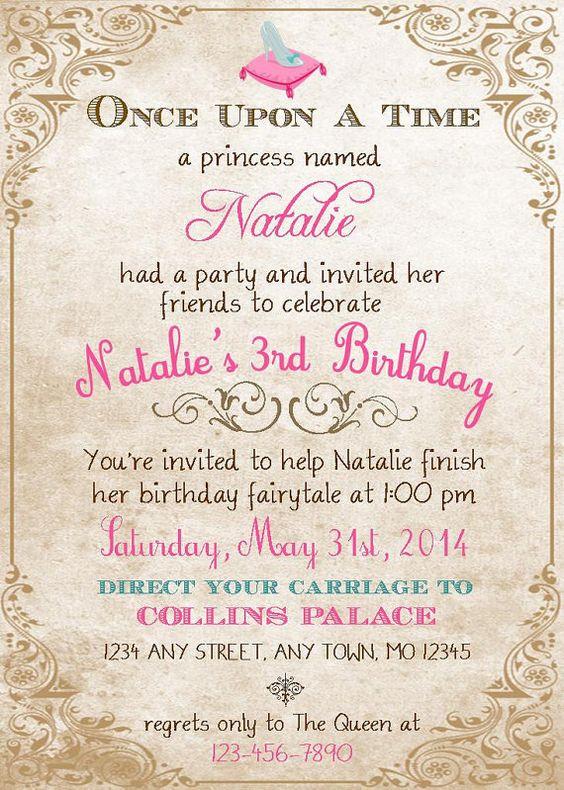 Princess Birthday Invitation for DIY by thegatheringplaceco