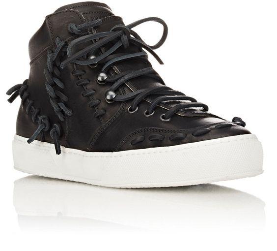 Maison Margiela Leather High-Top Sneakers | Barneys New York