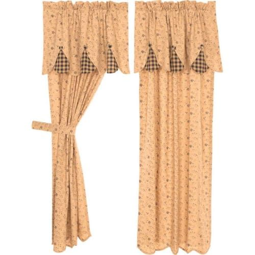 Maisie Short Tieback Window Curtain Panels 63 X 36 Panel