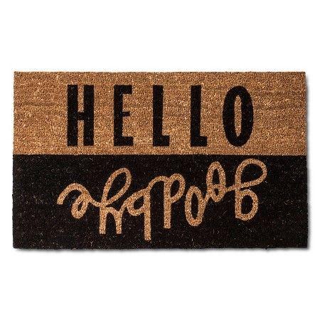 Hello Goodbye Doormat 2'x3' Multicolored -Room Essentials™ : Target