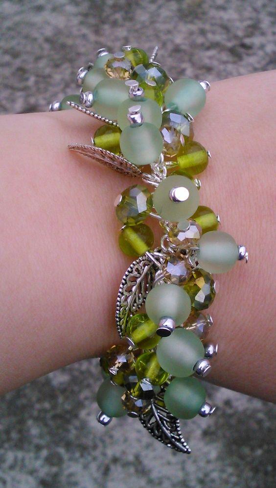 green cluster bracelet